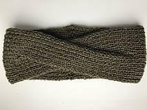 Čiapky - Čelenka khaki - turban - 8623154_
