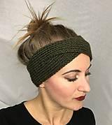 Čiapky - Čelenka khaki - turban - 8623161_