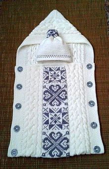 Textil - fusak s norskym vzorom - 8619138_