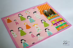- Detské prestieranie s vreckom na príbor Dievčatá - 8622979_