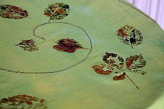 Úžitkový textil - Obrus. Batikovaný a maľovaný art obrus Jeseň - 8622671_