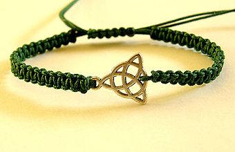 Náramky - celtic smaragd trinity shamballa - 8623126_