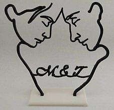 Darčeky pre svadobčanov - Svadobná dekorácia - tváre - 8621299_