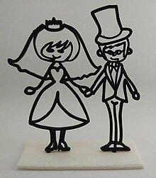Darčeky pre svadobčanov - Svadobná dekorácia - mladomanželia - 8622485_