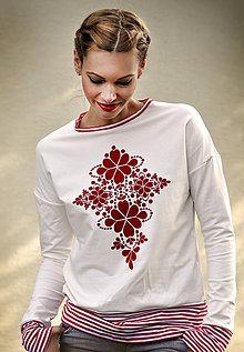 Mikiny - Pohodlná hrejivá mikina Red Folk - 8619700_