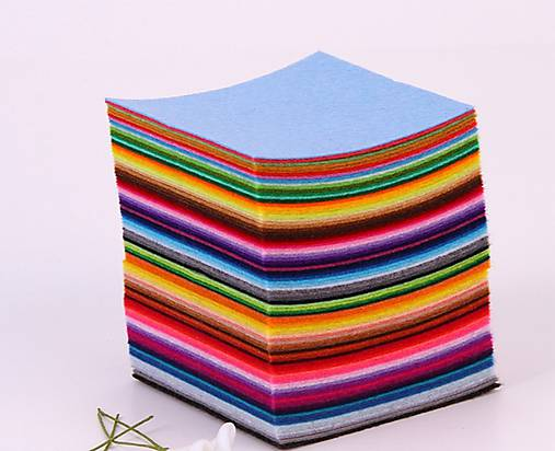 0a742d503 Filc 10x10cm - sada 88 farieb / wera.wera - SAShE.sk - Handmade Textil