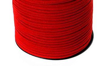 Galantéria - Koženka 3mm červená - 8622519_