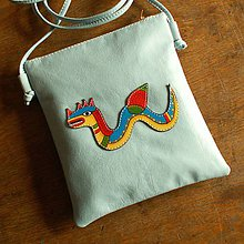 Na tablet - Mořský drak - kožená crossbody taška - 8619285_
