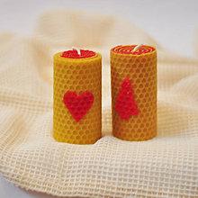 Svietidlá a sviečky - Sviečky z pravého včelieho vosku - 8624574_