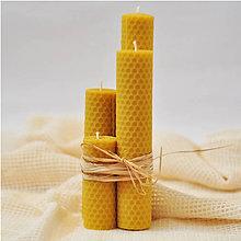Svietidlá a sviečky - Adventná sada - žltá - 8624619_