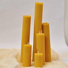 Svietidlá a sviečky - Set  6 x voskových sviečok - 8624736_
