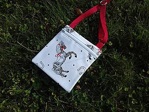 Taštičky - Cross body Bag Mini s koníkmi - 8628149_