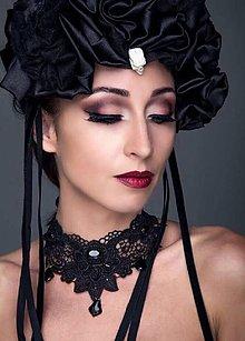 Ozdoby do vlasov - Čelenka Gothic - 8628847_