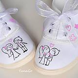 Obuv - Svadobné tenisky s ružovou - 8626619_