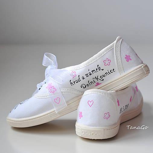 e6548423b2 Svadobné tenisky s ružovou   TanaGo - SAShE.sk - Handmade Obuv
