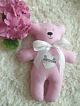 Hračky - Macko v ružovom šate - 8625193_