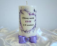 Svietidlá a sviečky - Milovanej manželke :) - 8627537_