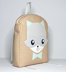 Detské tašky - IHNEĎ K ODOSLANIU 1 kus :) RUKSAK mýval, hnedo - sivý - 8627385_
