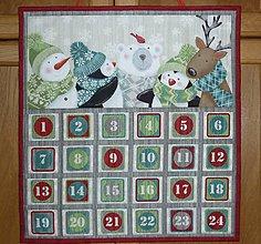 Dekorácie - Adventný kalendár LESNÉ ZVIERATKÁ - 8626915_