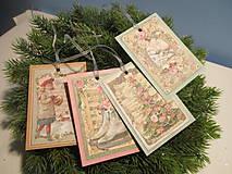 Papiernictvo - Vianočné visačky Shabby - 8627451_