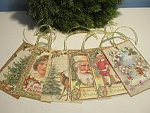Papiernictvo - Vianočné visačky Vintage - 8627489_