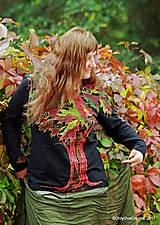 Tričká - Dámske tričko batikované, maľované JAVOROVÁ RAPSÓDIA - 8624497_