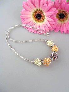 Náhrdelníky - Perly trojfarebný náhrdelník - 8627285_