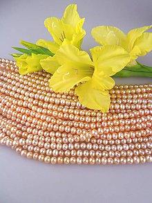 Minerály - perla marhuľová pravá 5-6mm - 8628821_