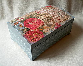 Krabičky - Drevená truhlička Tajomná záhrada - 8625552_