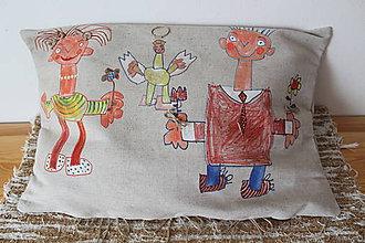 Úžitkový textil - Família vankúšik s láskou - 8628175_