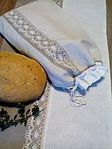 Úžitkový textil - Ľanové vrecko z ručne tkaného plátna - 8627007_