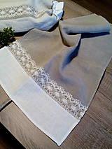 Úžitkový textil - Ľanová kuchynská utierka - 8627150_