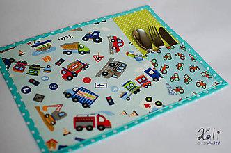 Textil - Detské prestieranie s vreckom na príbor Dopravné prostriedky - 8626547_