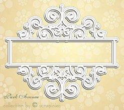 Papier - Lepenkový výrez - rámik Park avenue - 8628576_