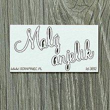 Papier - Lepenkový výrez - Malý anjelik - 8628663_