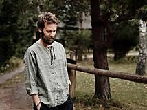 Oblečenie - Pánska ľanová košeľa - rôzne farby - 8626287_