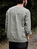 Oblečenie - Pánska ľanová košeľa - rôzne farby - 8626289_