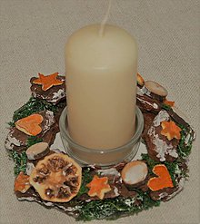 Svietidlá a sviečky - Svietnik 28 - vianočný - 8625735_