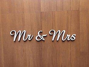 Nezaradené - Dekorácia - písmenká Mr & Mrs - 8627767_
