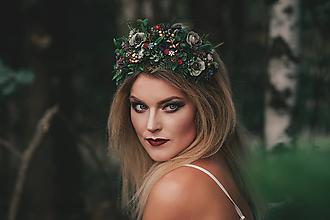 Ozdoby do vlasov - Greenery čelenka z kolekcie