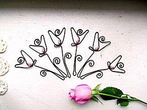 Darčeky pre svadobčanov - kvietok s perlami* 10 cm - 8626157_