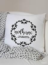 Úžitkový textil - Vankúš 40x40cm bavlna NÁDHERNÁ - 8624425_