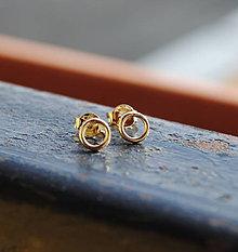 Náušnice - Náušnice zlaté krúžky - 8630855_