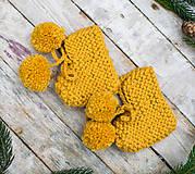 Topánočky - Papučko - topánočky brmbolcové ... žltučké - 8630744_
