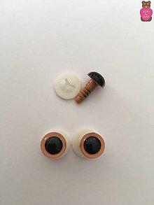 Komponenty - Bezpečnostné oči - béžové 10mm - 8629685_