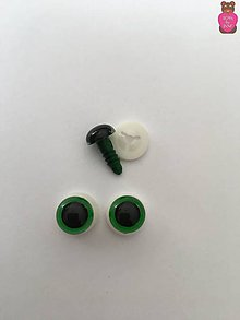 Komponenty - Bezpečnostné oči - zelené 10mm - 8629694_