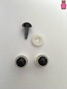 Komponenty - Bezpečnostné oči - biele 12mm - 8629695_