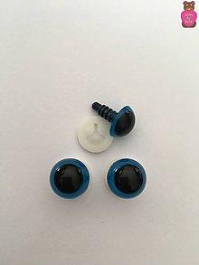 Komponenty - Bezpečnostné oči - modré 12mm - 8629696_