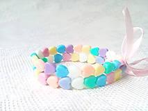 Náramky - Pastel love bracelets - 8631357_