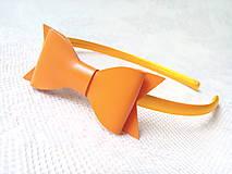 Ozdoby do vlasov - Orange bow headband - 8631370_